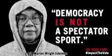 Democracy not a spectator sport