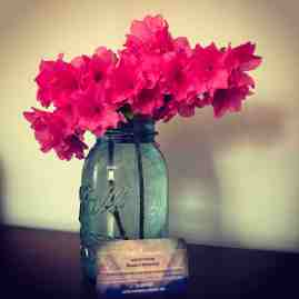flowers and biz card