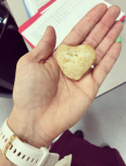 Heart Rock found at school in the parking lot