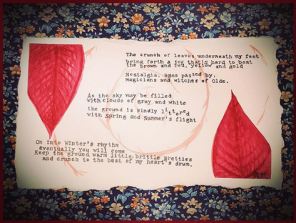 A poem I wrote this week about leaves.