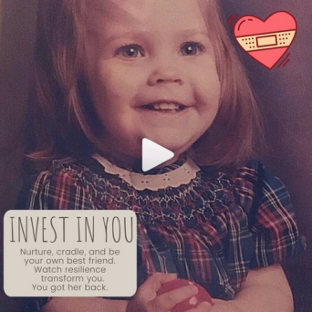My as a tiny one, learning to invest in me!